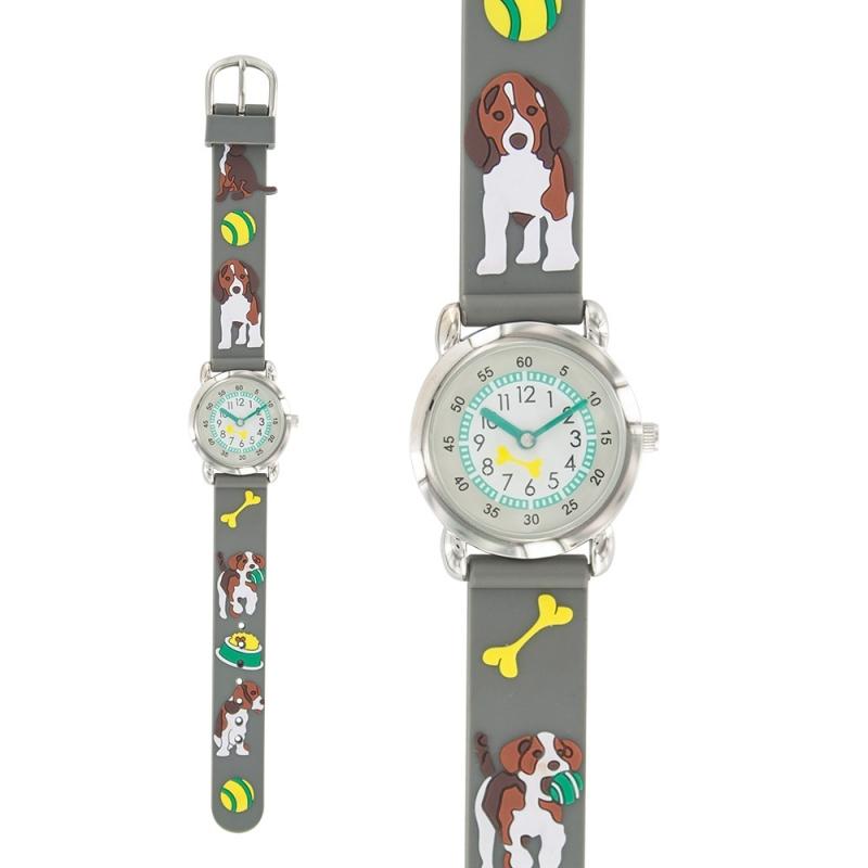 Montre laval motif chien bracelet silicone gris - Silicone pour moulage pas cher ...