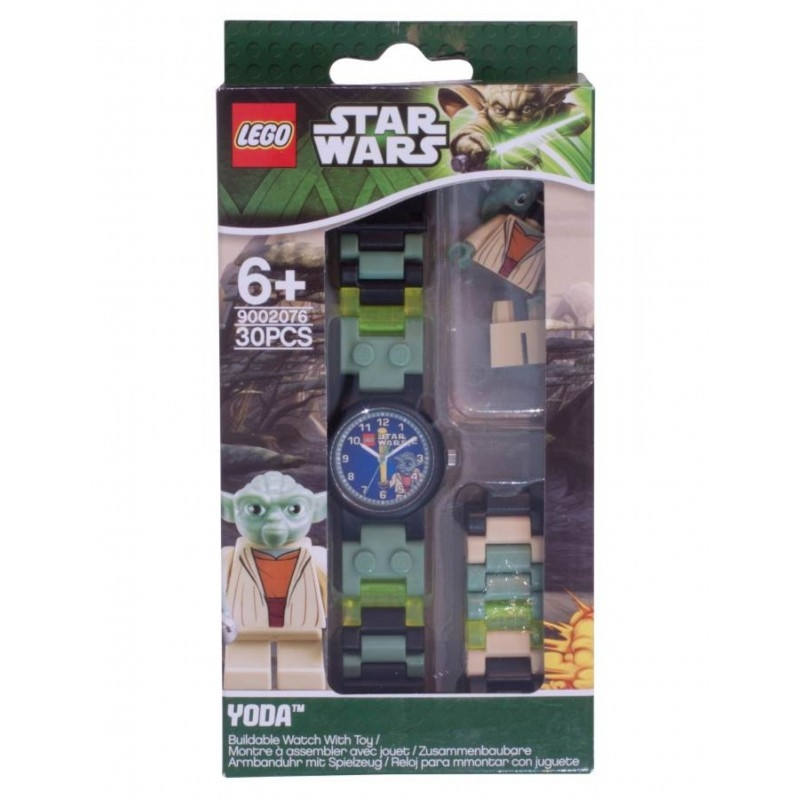 montre lego star wars ma tre yoda avec figurine. Black Bedroom Furniture Sets. Home Design Ideas