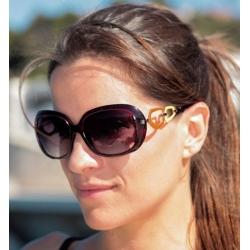 Braderie vente à bas prix brillance des couleurs Lunettes de soleil contour Bordeaux