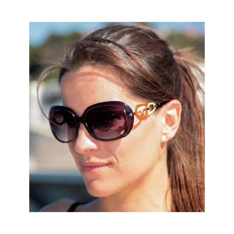lunettes de soleil contour bordeaux. Black Bedroom Furniture Sets. Home Design Ideas