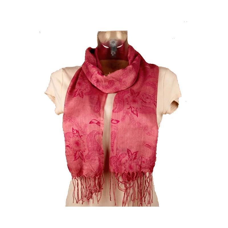 foulard l ger rose vieilli et fleurs 160 x 55 cm. Black Bedroom Furniture Sets. Home Design Ideas