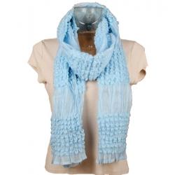 Echarpe hiver bleu ciel 200 x 45 cm