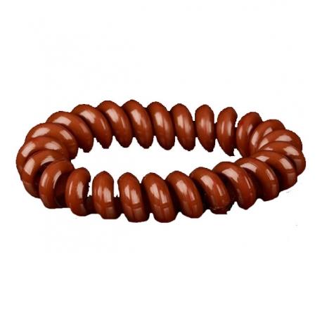 bracelet chouchou lastique caramel. Black Bedroom Furniture Sets. Home Design Ideas