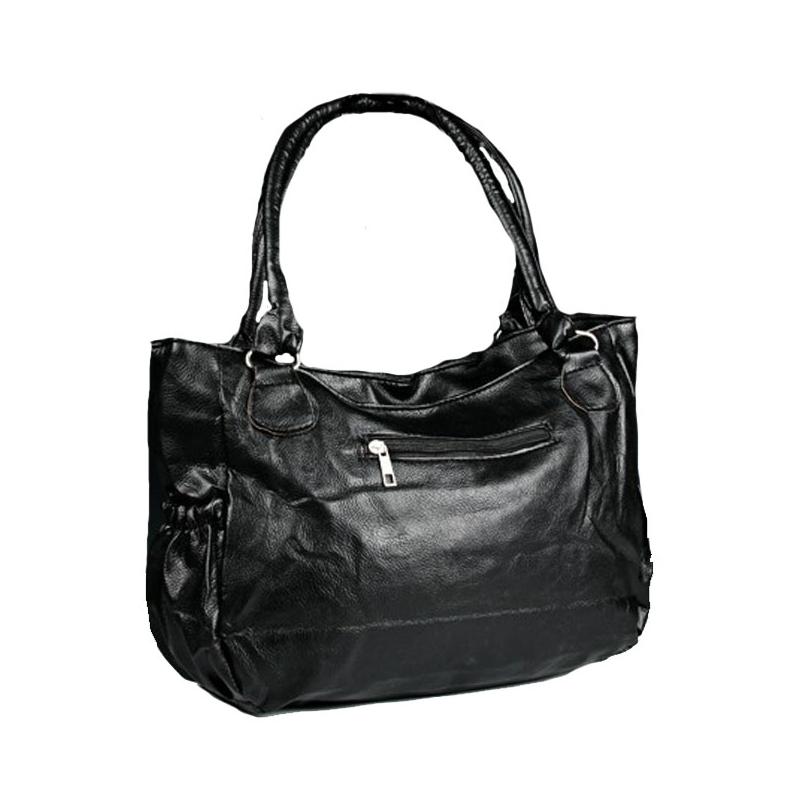 pas mal 1ae55 5630e Grand sac à main noir et métal