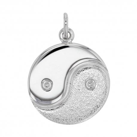 60b48ebe3877 Colgante Yin y Yang en plata de rodio
